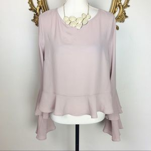 Forever 21 Blush Pink Blouse Bell Style Size XL